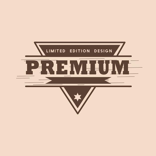 Premium quality badge design vector Free Vector