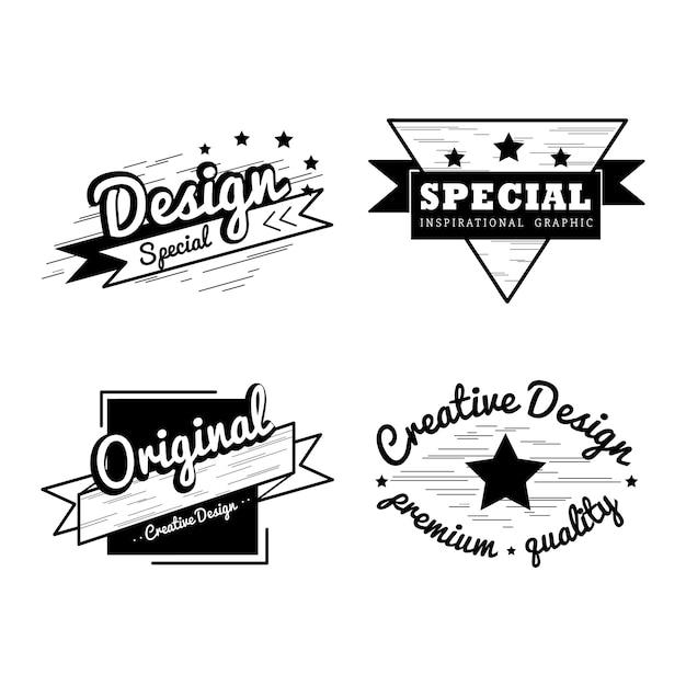 Premium quality badge vector set Free Vector
