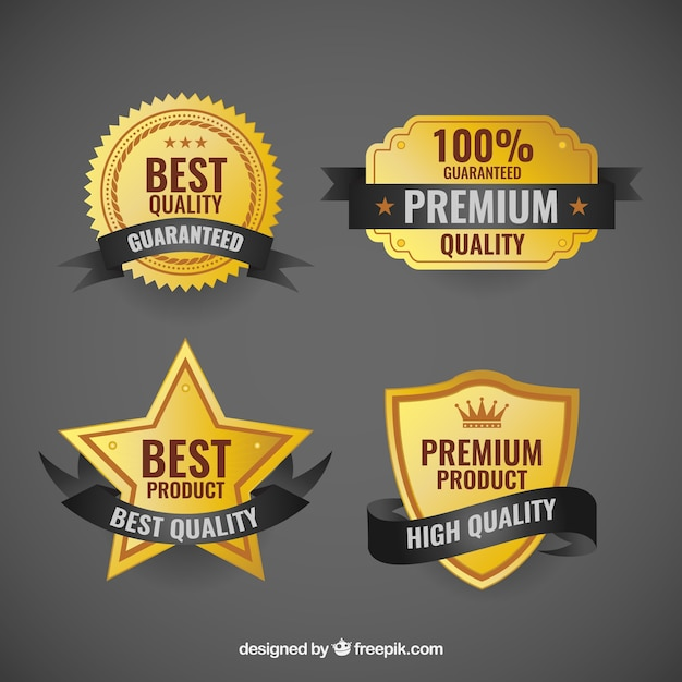 Premium quality badges Premium Vector