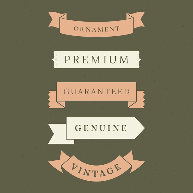 Premium quality banner collection Free Vector