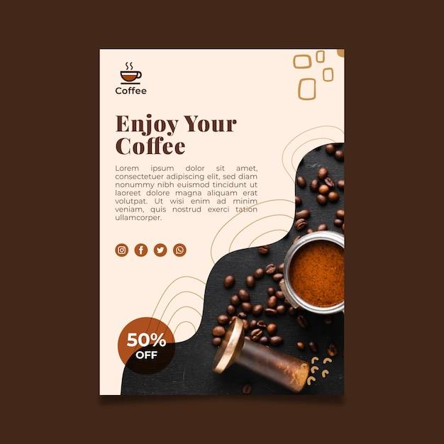 Premium quality coffee poster Free Vector