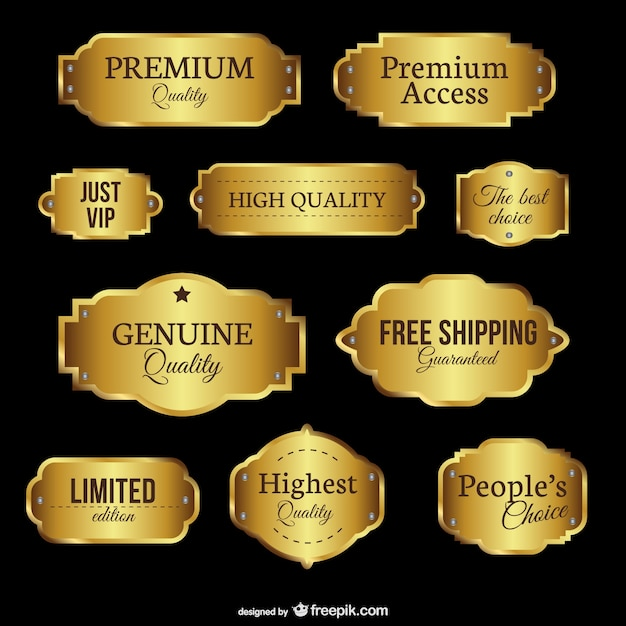 Premium quality emblems Free Vector