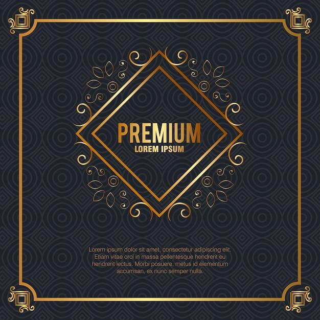 Premium quality golden frame Free Vector