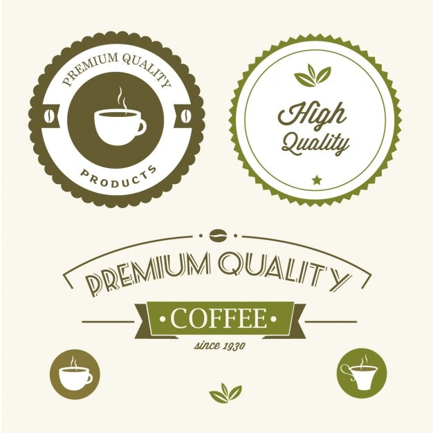Premium quality green labels Free Vector