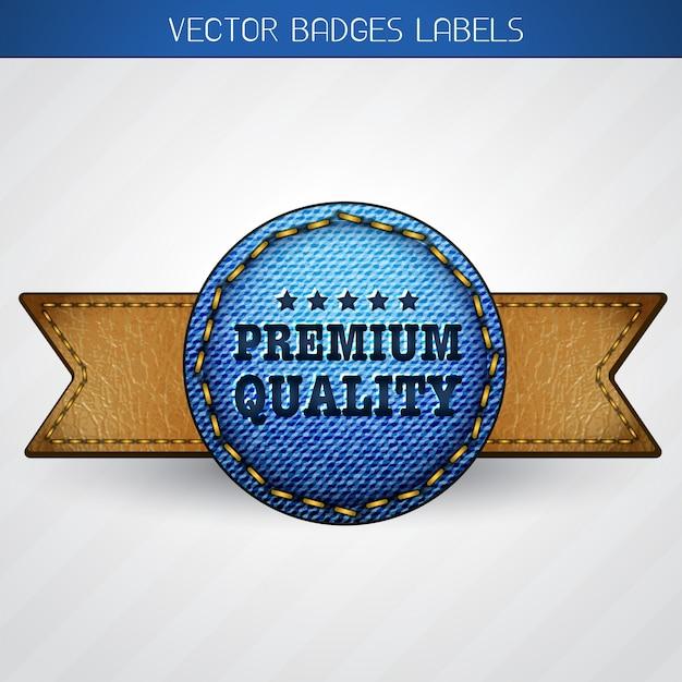 Premium quality label Premium Vector