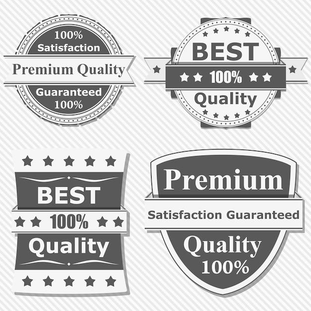 Premium quality labels Premium Vector