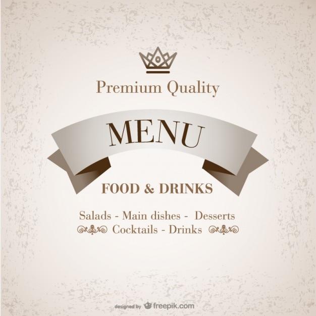 Premium quality restaurant menu Vector | Free Download