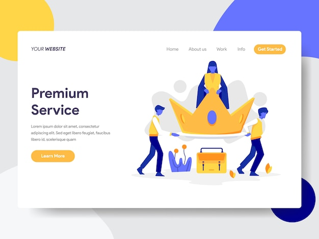 Premium service for web page Premium Vector