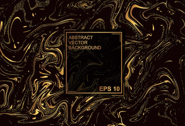 Премиум текстура. золотой черный фон Premium векторы