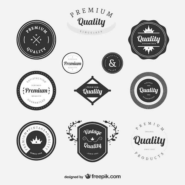 Premium vintage labels set Free Vector