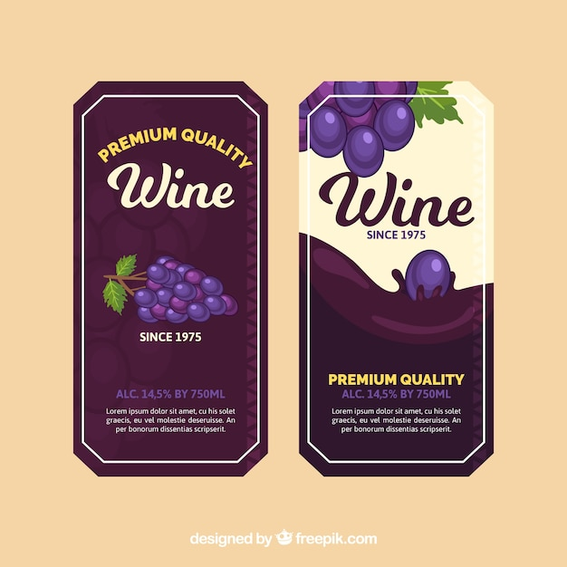 Premium wine labels