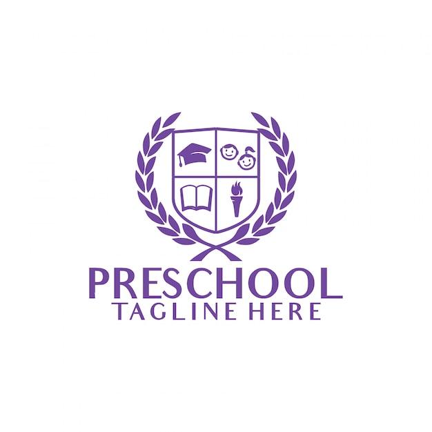 preschool logo vector premium download rh freepik com preschool logo game preschool logo images