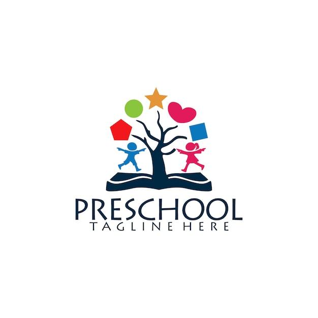 Preschool logo Premium Vector