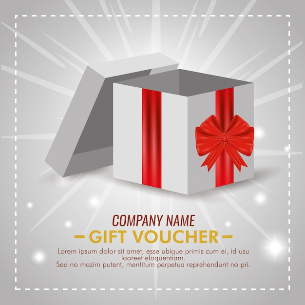 Present voucher with special sale discount Free Vector