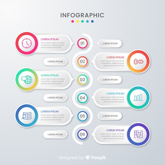Presentation business infographic template and text boxes Free Vector