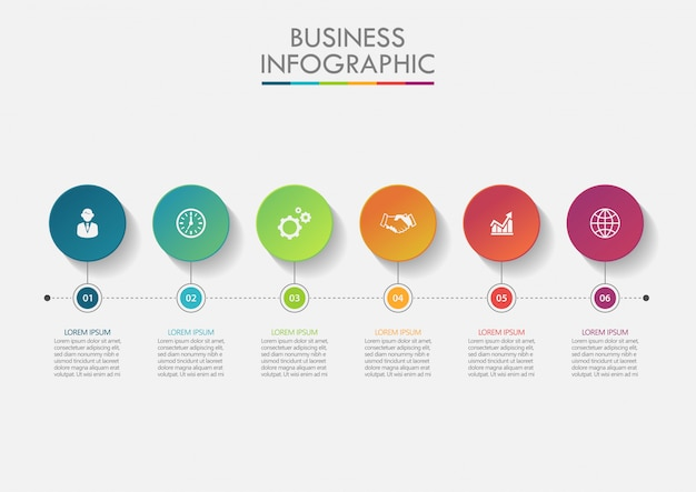 Presentation business infographic template Premium Vector