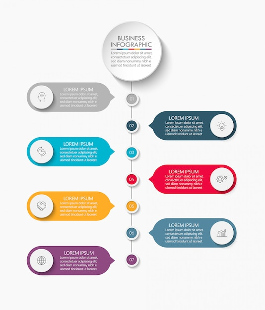 Presentation business infographic template. Premium Vector