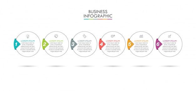 Presentation business infographic template Premium Vector