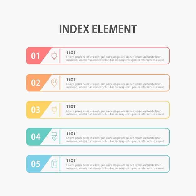 Presentation business infographics template.  illustration. Premium Vector