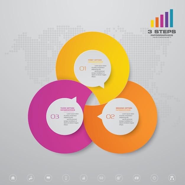Presentation chart infographic element. Premium Vector