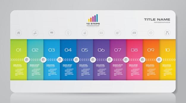 Presentation chart infographic Premium Vector