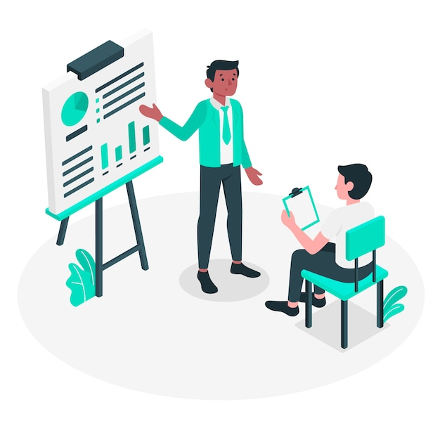 Presentation concept illustration Free Vector