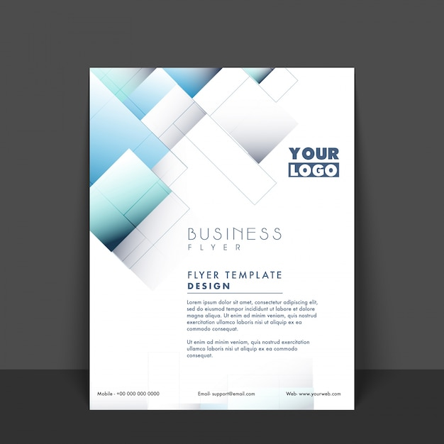 Presentation Flyer Professional Background Advertising Vector