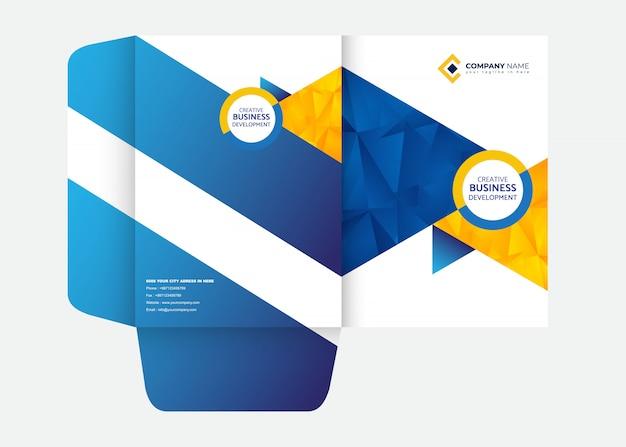 Presentation folder design folder template Premium Vector