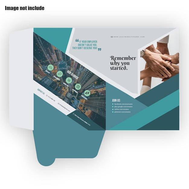 Presentation folder Premium Vector