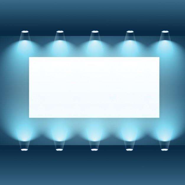 download vector presentation frame in empty room vectorpicker