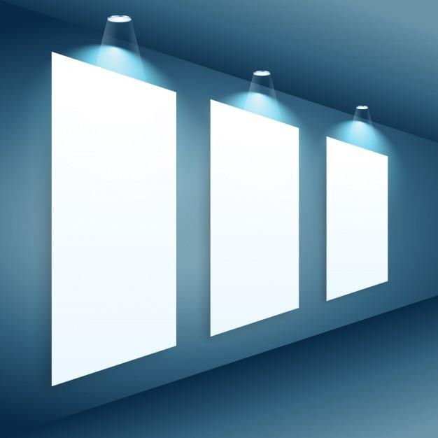 Presentation gallery wall Free Vector