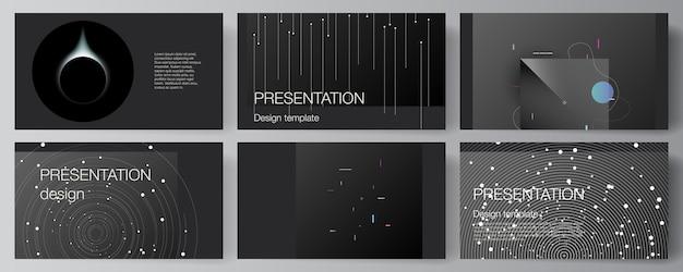 Набор слайдов презентации Premium векторы