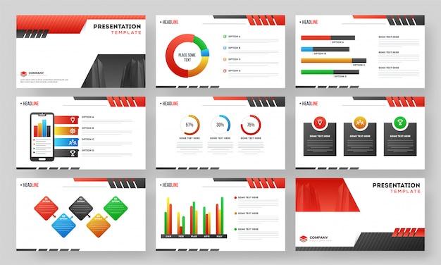 Presentation template layout Premium Vector