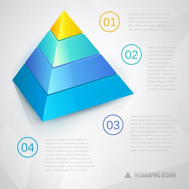 Шаблон презентации с текстом муравья пирамидальной диаграммы Бесплатные векторы