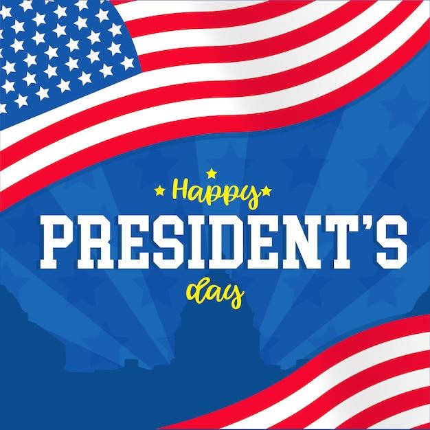 President day banner Premium Vector