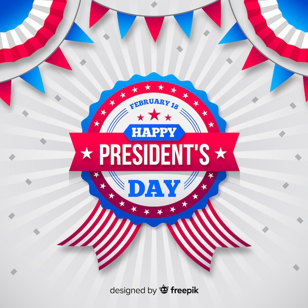 President's day background Free Vector