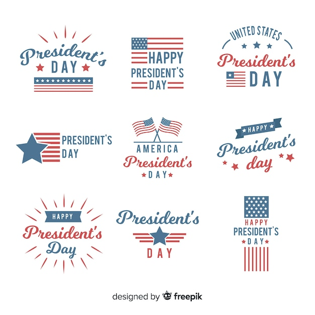 President's day badge set Free Vector