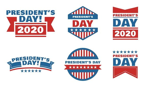 Pacchetto distintivi del giorno del presidente Vettore gratuito