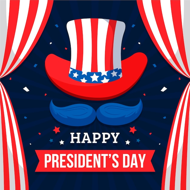 President's day in flat design Free Vector