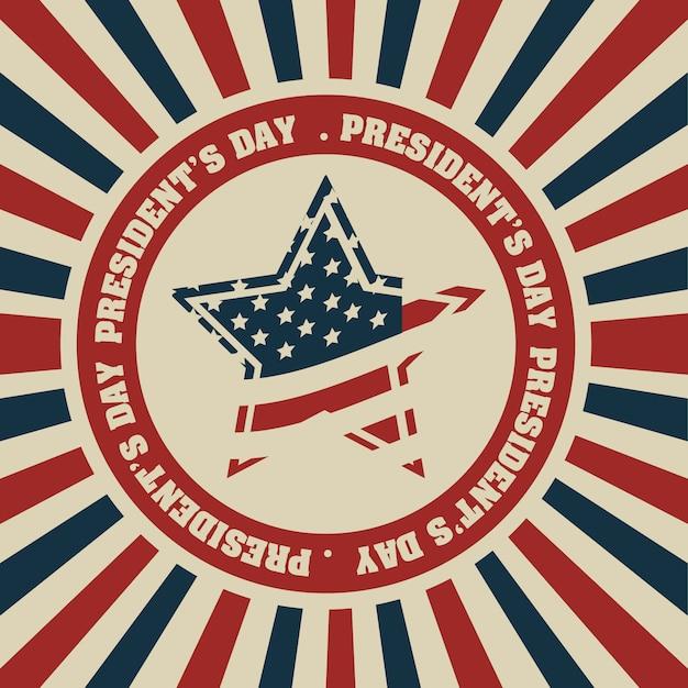 President's day in usa Premium Vector