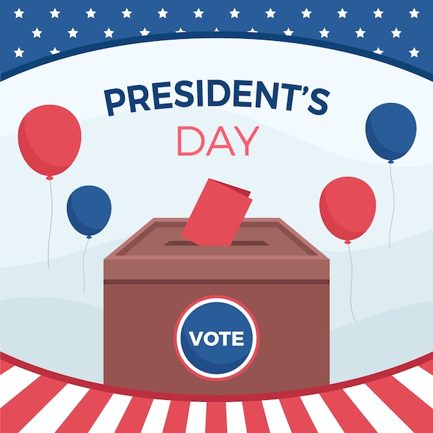 Presidential election composition in flat design Free Vector
