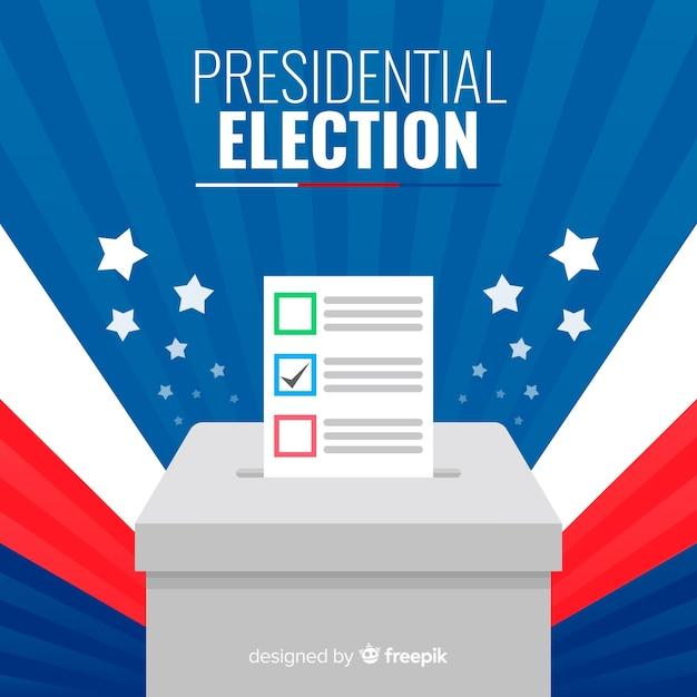 Состав президентских выборов с плоским дизайном Premium векторы