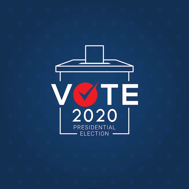 Presidential election day 2020 Premium Vector
