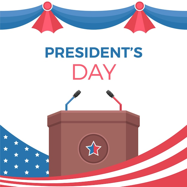 Presidential election in flat design Free Vector