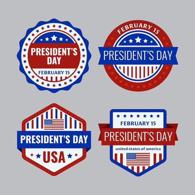 Коллекция значков дня президентов Premium векторы