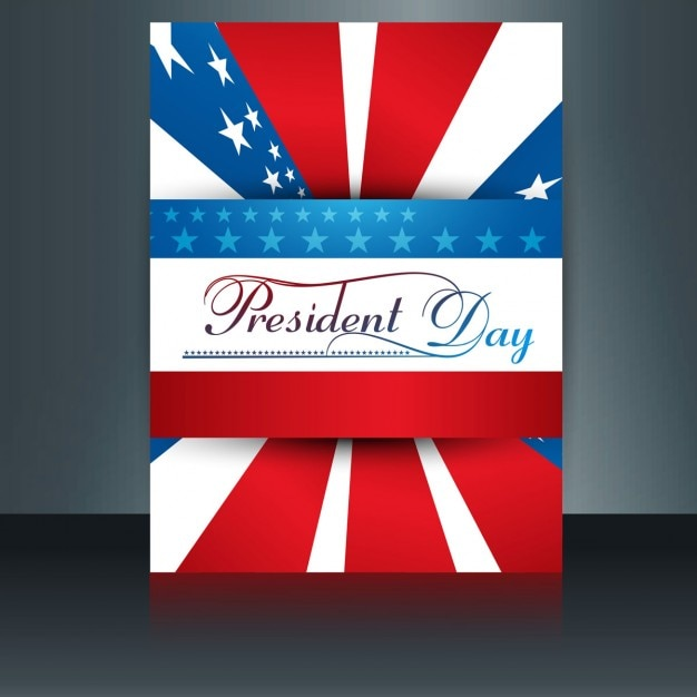 Presidents day brochure Free Vector