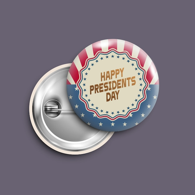 Presidents day button,badge,banner isolated,retro style Premium Vector