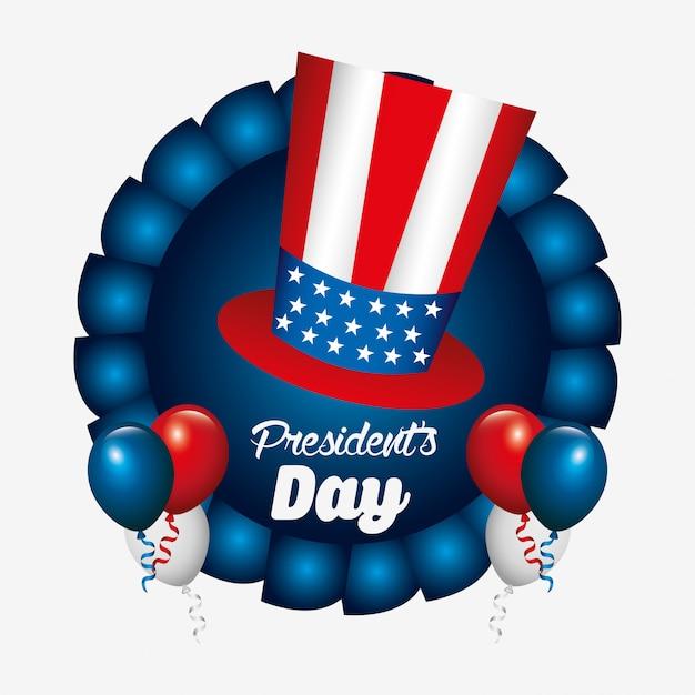 大統領の日デザイン Premiumベクター