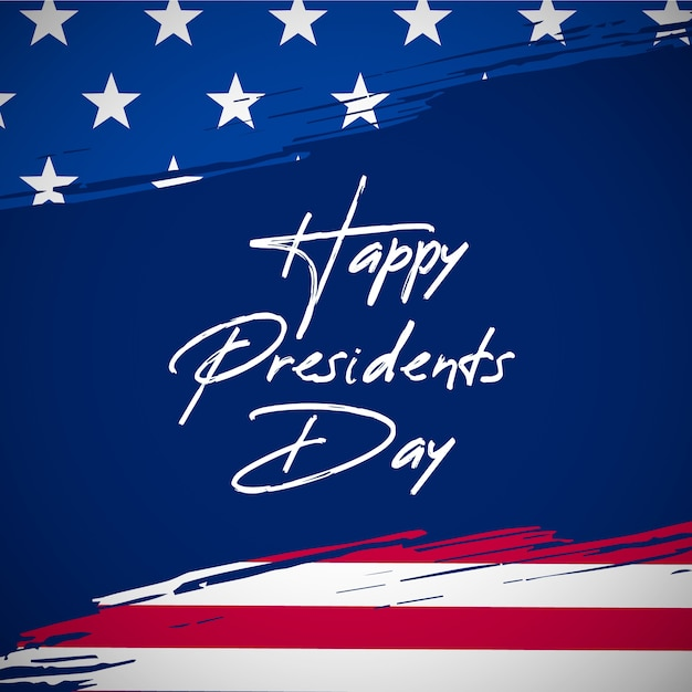 Presidents day in flat design Free Vector