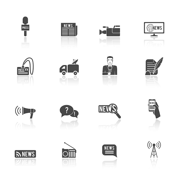 Press icons Free Vector